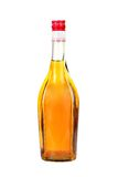 Classical cognac  bottle. It is filled, corked Royalty Free Stock Photos