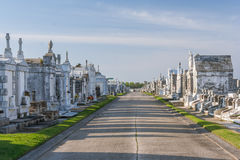 Classical colonial French cemetery in New Orleans,  Louisiana Royalty Free Stock Image
