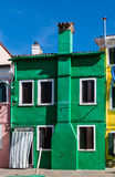 Classical colored house in the Venice lagoon. Classical colored house on the island of Torcello in the Venetian lagoon, Italy Royalty Free Stock Image