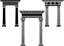Classical column stencil set Stock Photography