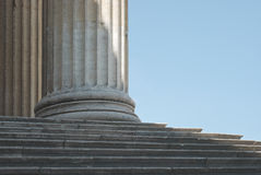 Classical Column with Steps Stock Photography