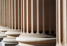 Classical Columns. Classical Sandstone Columns In A Row, Pillars, Architecture Royalty Free Stock Image