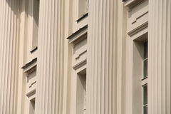 Classical columns on building Royalty Free Stock Images