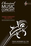 Classical concert poster Royalty Free Stock Photography