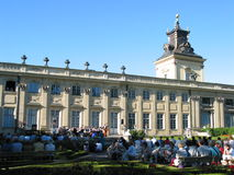 Classical concert at Wilanow Palace's garden. Wilanow Palace in Warsaw, Poland royalty free stock photo