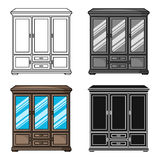 Classical cupboard icon in cartoon style isolated on white background. Furniture and home interior symbol stock vector Royalty Free Stock Photography