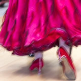 Classical dance competition, detail Royalty Free Stock Photos