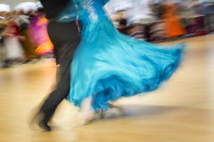 Classical dance competition, detail. Shot taken with intentional motion blur Stock Image
