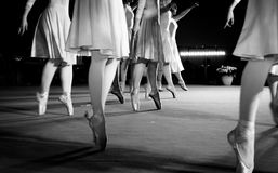 Classical dance moves. During an evening performance Stock Photo