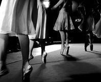 Classical dance moves. During an evening performance Stock Photos