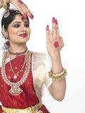 Classical dancer from india Royalty Free Stock Photo