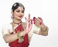 Classical dancer from india Royalty Free Stock Photos