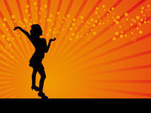Classical dancer vector orange background Stock Photography