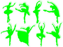 Classical dancers silhouette Stock Photography
