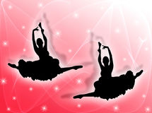 Classical dancers in the stars Royalty Free Stock Photo