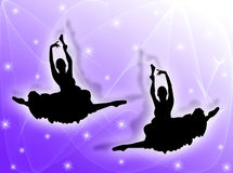 Classical dancers in the stars Royalty Free Stock Image