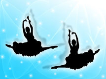 Classical dancers in the stars Royalty Free Stock Images