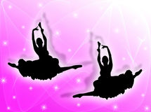 Classical dancers in the stars Stock Photo
