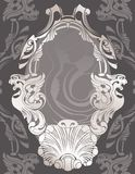 Classical decorative framework stencil Royalty Free Stock Photography