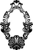 Classical decorative framework stencil. Iluustration for design Royalty Free Stock Photography