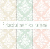 Classical delicate seamless pattern set Stock Image