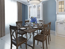 Classical design of dining room Stock Photography