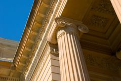 Classical Detail Ionic Column Stock Images
