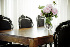 Classical dining set Stock Image