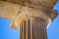 Classical Doric order example with column Royalty Free Stock Photos