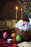Classical easter still life. The traditional christian easter still life Royalty Free Stock Photography