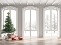 Free Classical Empty Room Decorate With Christmas Tree 3d Render Royalty Free Stock Image - 162773976