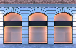 Classical empty storefront. Stock Photo
