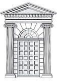 Classical entrance  Stock Photos