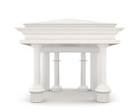 Classical entrance with columns. 3d. Stock Images