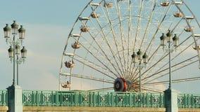 Classical Fair Ferris Wheel In France stock video