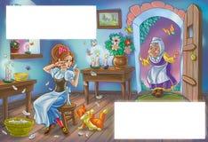Cinderella and her magic godmother Stock Photo