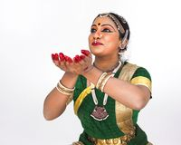 Classical female dancer from india Royalty Free Stock Photos
