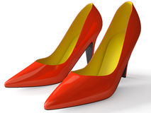 Classical female shoes Stock Photography