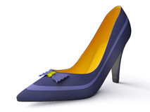 Classical female shoes Stock Photos