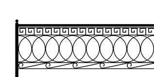 Classical fence. Royalty Free Stock Photography