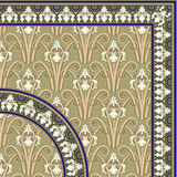 Classical floral pattern and Frame stock illustration