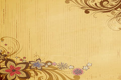 Classical flower wallpaper. Brown color classical flower wallpaper Stock Image