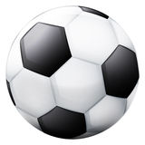 Classical football ball 3D object isolated Royalty Free Stock Photos