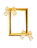 Classical frame with bows Royalty Free Stock Images