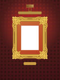 Classical frame with lamp. Stock Image