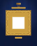 Classical frame with lamp. Royalty Free Stock Photography