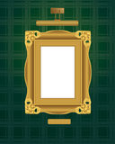 Classical frame with lamp. Stock Photo