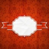 Classical frame on a Wooden background Royalty Free Stock Images