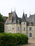 Classical french castle. In France Stock Photos