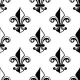 Classical French fleur-de-lis pattern Royalty Free Stock Photo